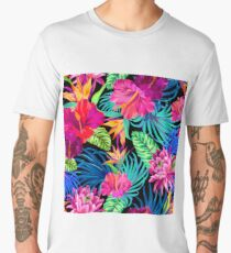 Drive You Mad Hibiscus Pattern Men's Premium T-Shirt