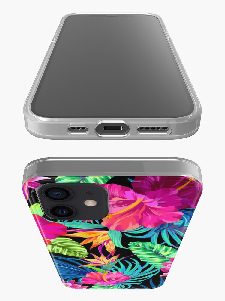 Alternate view of Drive You Mad Hibiscus Pattern iPhone Case & Cover