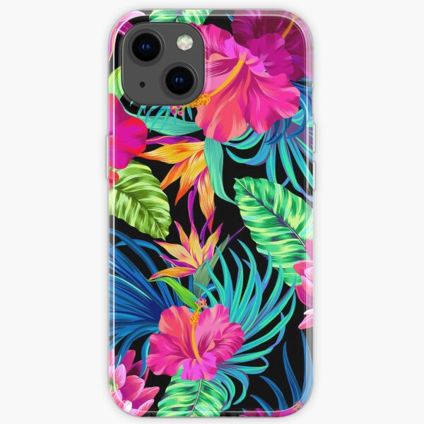 Drive You Mad Hibiscus Pattern iPhone Soft Case