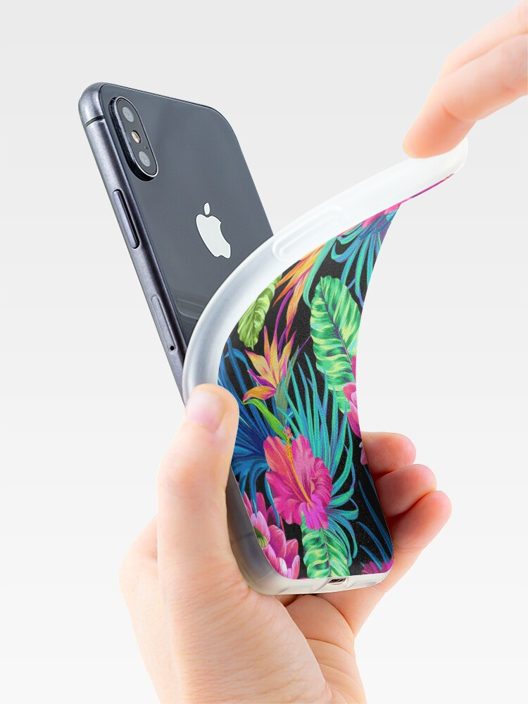 Alternate view of Drive You Mad Hibiscus Pattern iPhone Cases & Covers