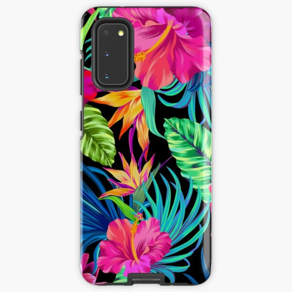 Drive You Mad Hibiscus Pattern Samsung Galaxy Tough Case