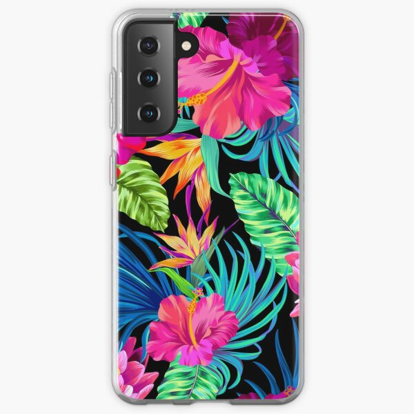 Drive You Mad Hibiscus Pattern Samsung Galaxy Soft Case