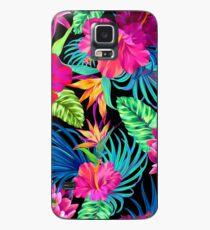 Fahren Sie Mad Hibiscus Pattern Hülle & Klebefolie für Samsung Galaxy