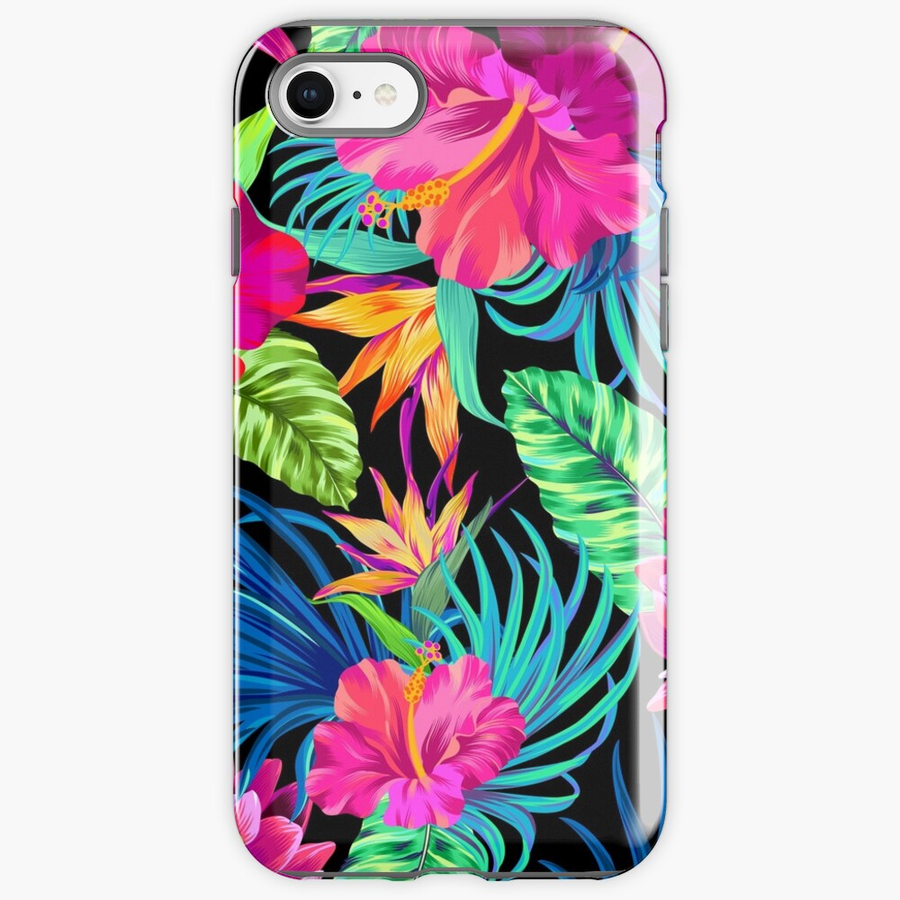 Drive You Mad Hibiscus Pattern iPhone Case & Cover
