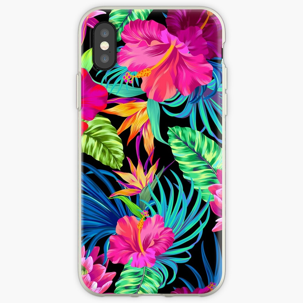 Drive You Mad Hibiscus Pattern iPhone Cases & Covers