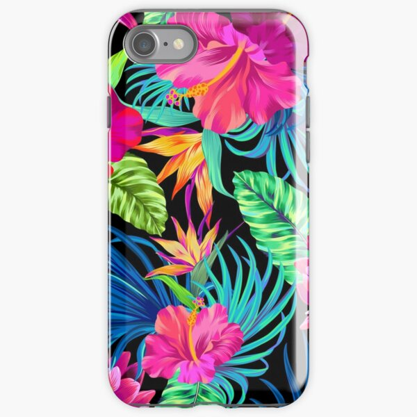 Drive You Mad Hibiscus Pattern iPhone Tough Case