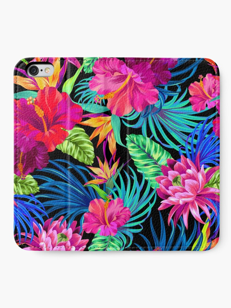 Alternate view of Drive You Mad Hibiscus Pattern iPhone Wallet