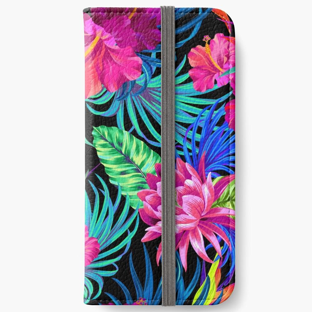 Drive You Mad Hibiscus Pattern iPhone Wallet