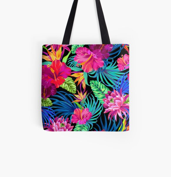 Drive You Mad Hibiscus Pattern All Over Print Tote Bag
