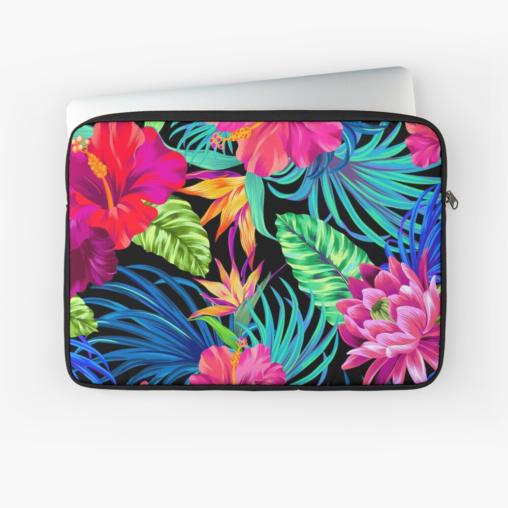 Drive You Mad Hibiscus Pattern Laptop Sleeve