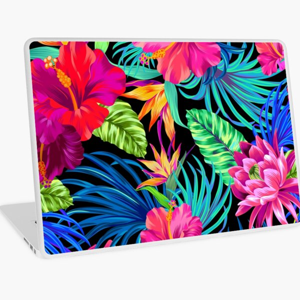 Drive You Mad Hibiscus Pattern Laptop Skin