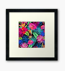 Drive You Mad Hibiscus Pattern Framed Print