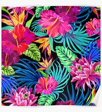 Drive You Mad Hibiscus Pattern Poster