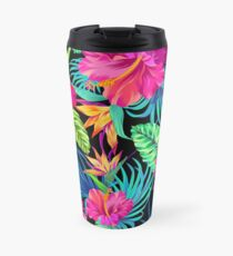 Drive You Mad Hibiscus Pattern Travel Mug