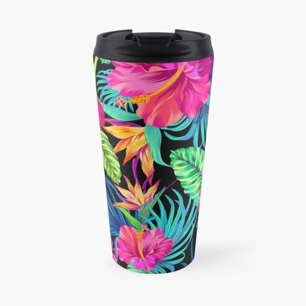Drive You Mad Hibiscus Pattern Travel Mug