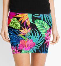 Drive You Mad Hibiscus Pattern Mini Skirt