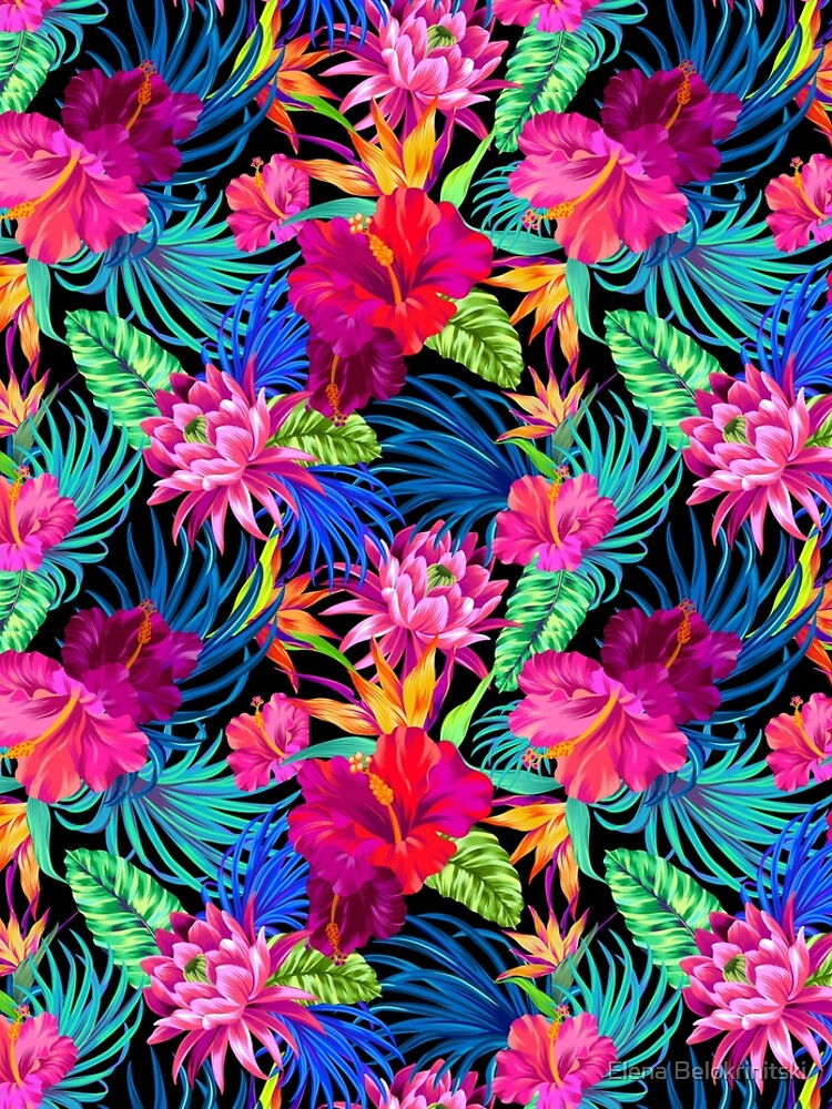 Drive You Mad Hibiscus Pattern by belokrinitski