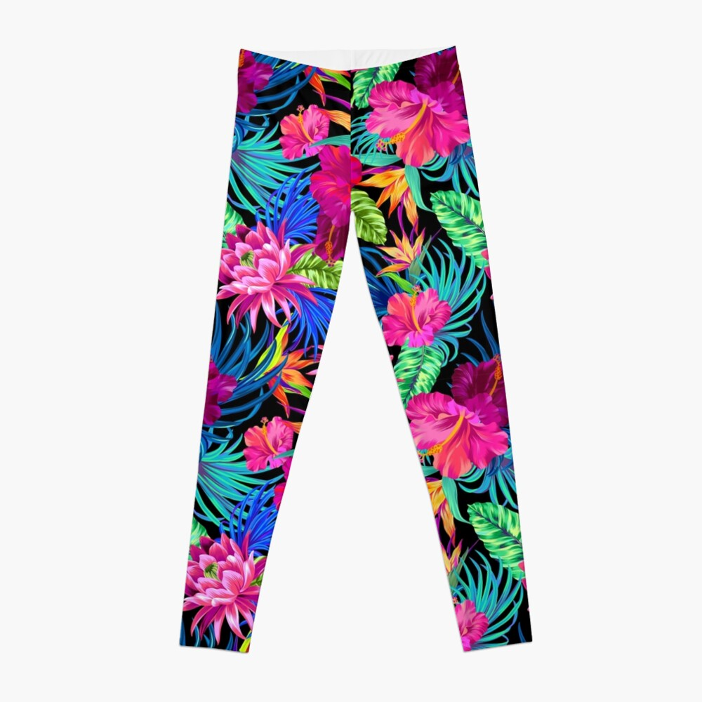 Drive You Mad Hibiscus Pattern Leggings