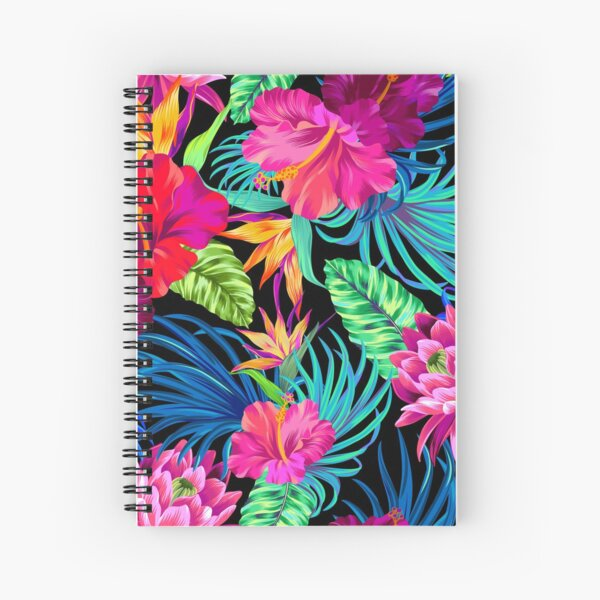 Drive You Mad Hibiscus Pattern Spiral Notebook