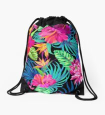 Mochila saco Drive You Mad Hibiscus Pattern