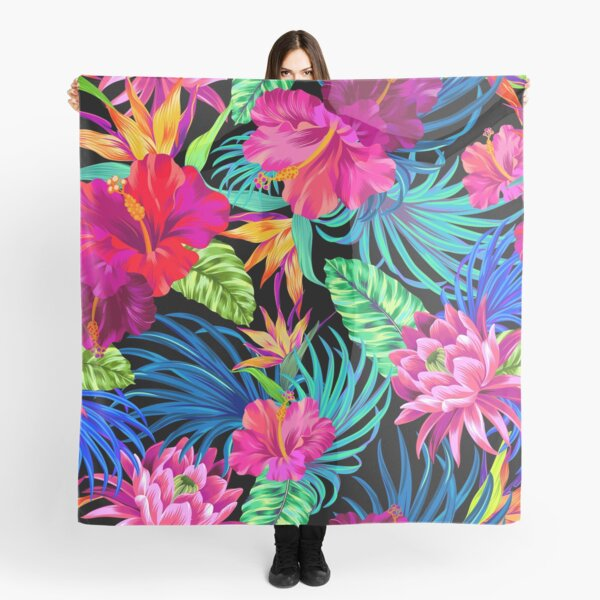 Drive You Mad Hibiscus Pattern Scarf