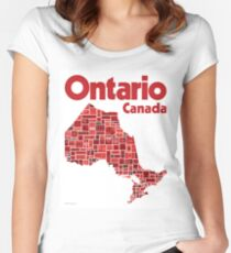 Everything Ontario - Canada 150 Poster Women's Fitted Scoop T-Shirt