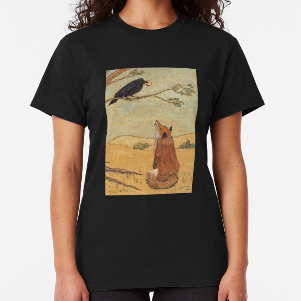 Aesops Fable the Fox and Crow Classic T-Shirt