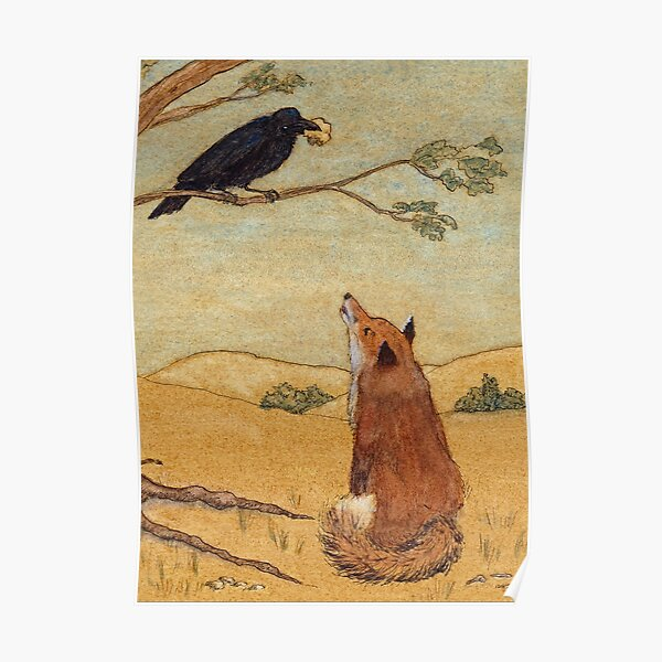 Aesops Fable the Fox and Crow Poster