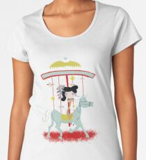 Carousel colorful whimsical magic horse ride doll tshirt Women's Premium T-Shirt