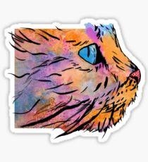 Galaxy the Cat Sticker