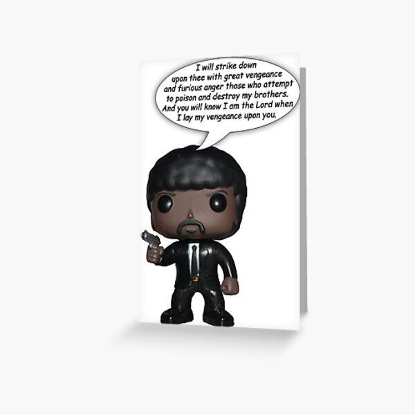 Funko Jules - Ezekiel 25:17 Greeting Card