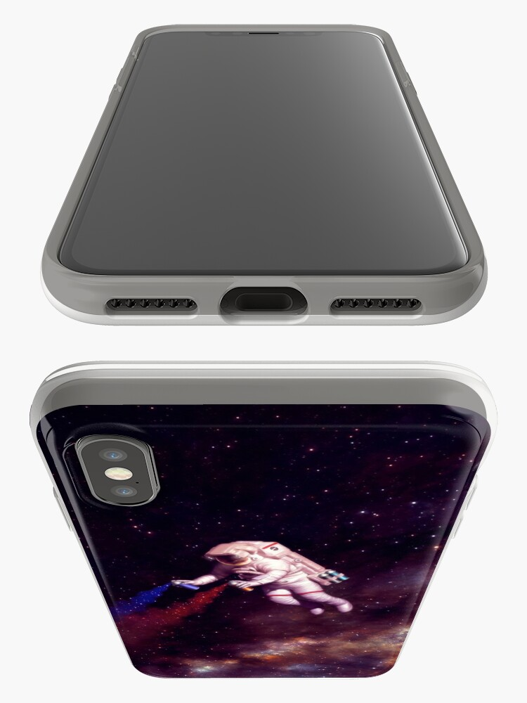 Alternate view of Shooting Stars - the astronaut artist iPhone Case & Cover