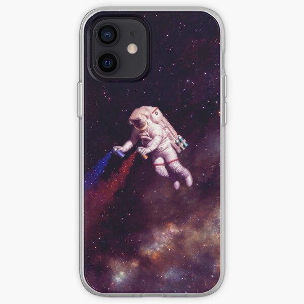 Shooting Stars - the astronaut artist iPhone Soft Case