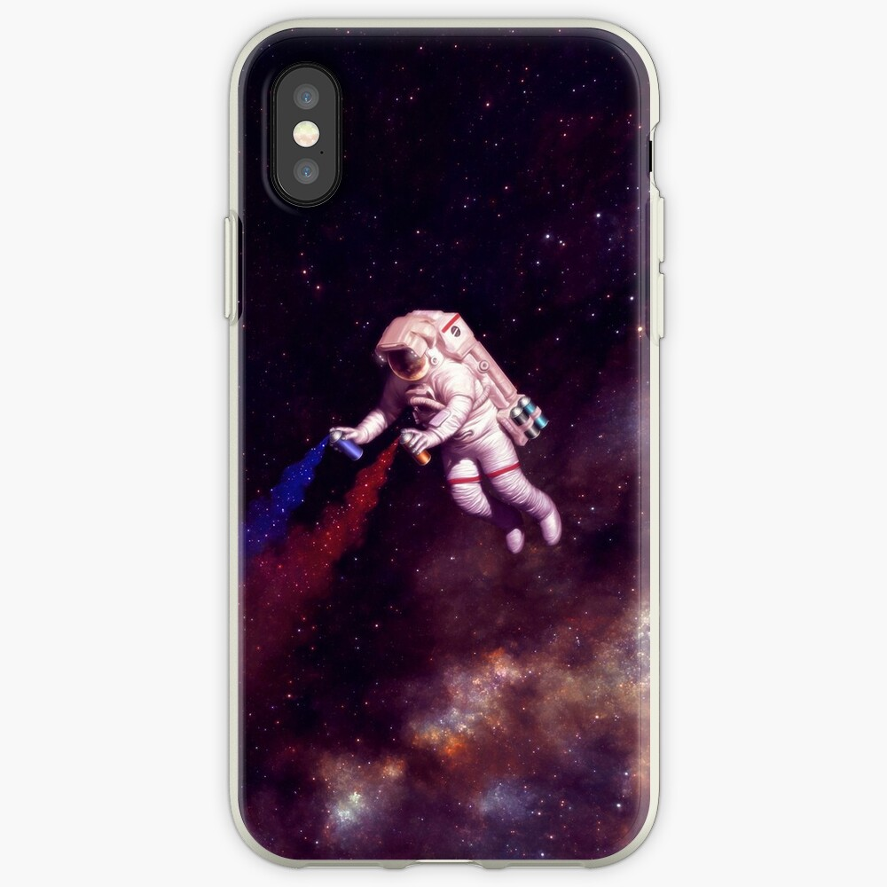 Shooting Stars - the astronaut artist iPhone Case & Cover