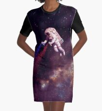 Shooting Stars - the astronaut artist Graphic T-Shirt Dress