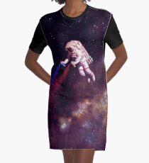 Shooting Stars - der Astronautenkünstler T-Shirt Kleid
