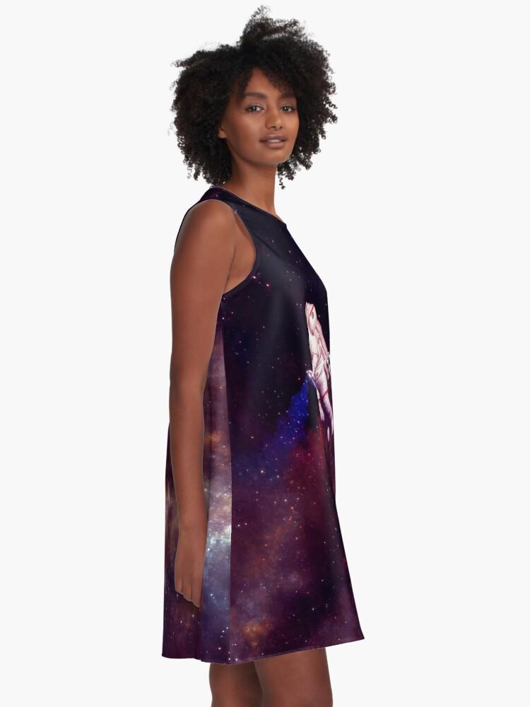 Alternate view of Shooting Stars - the astronaut artist A-Line Dress