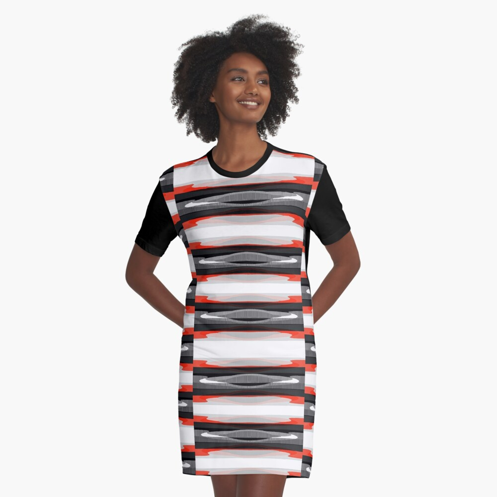 Flying Saucer Back Graphic T-Shirt Dress Front