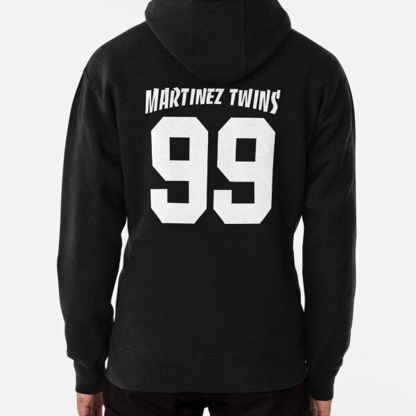Mens Hooded Sweatshirt Martinez Twins Original Retro Literary Design White