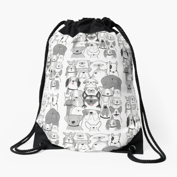 A lots of dogs! Drawstring Bag