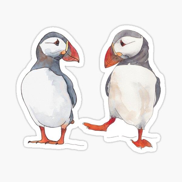 Pssstt... wanna dance? Sweet puffin friends Sticker