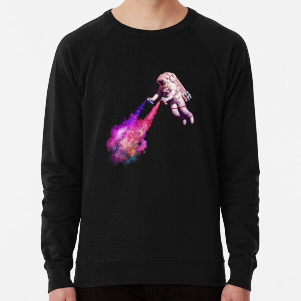 Shooting Stars - the astronaut artist Lightweight Sweatshirt