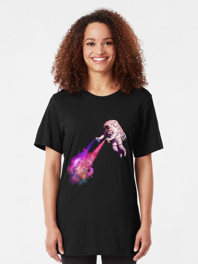 Alternate view of Shooting Stars - the astronaut artist Slim Fit T-Shirt
