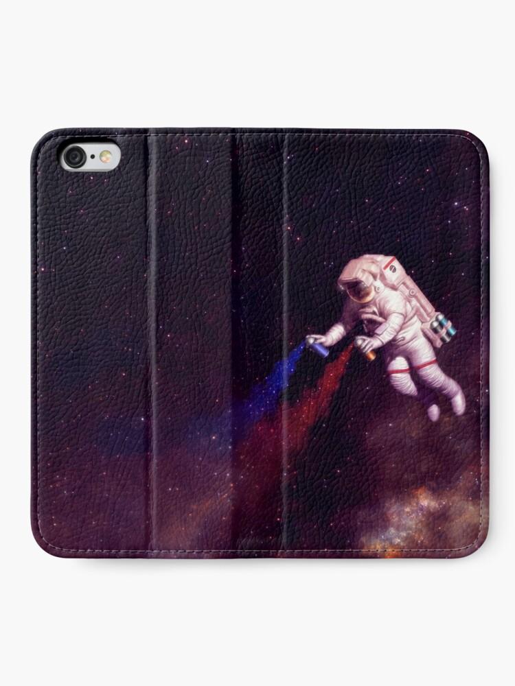 Alternative Ansicht von Shooting Stars - der Astronautenkünstler iPhone Flip-Case