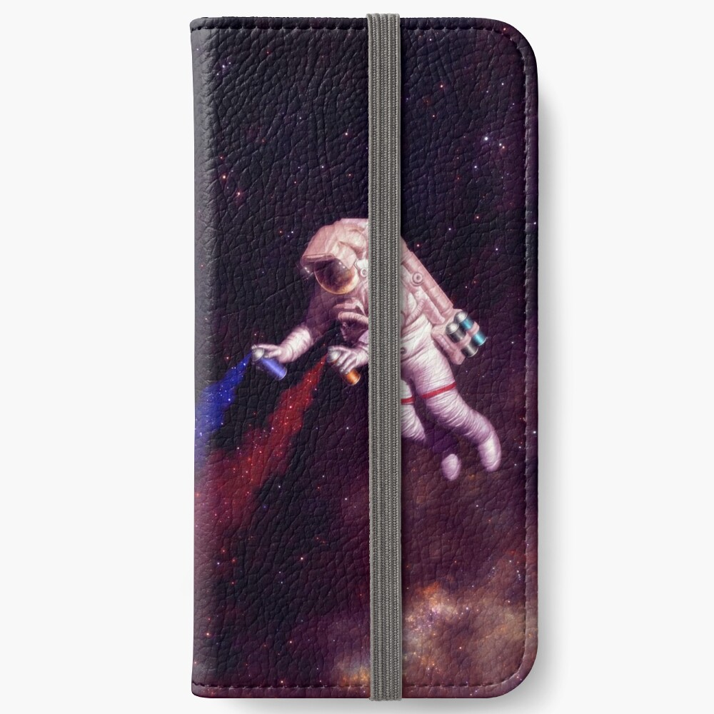 Shooting Stars - der Astronautenkünstler iPhone Flip-Case