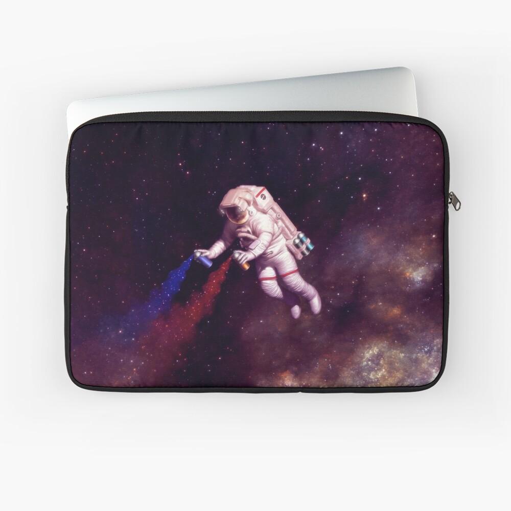 Shooting Stars - the astronaut artist Laptop Sleeve