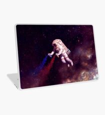 Shooting Stars - the astronaut artist Laptop Skin