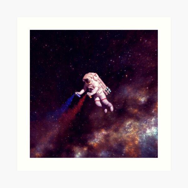 Shooting Stars - the astronaut artist Art Print