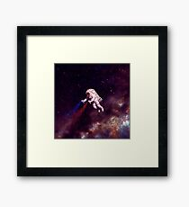 Shooting Stars - the astronaut artist Framed Print