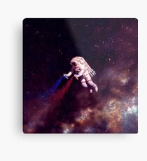 Shooting Stars - the astronaut artist Metal Print